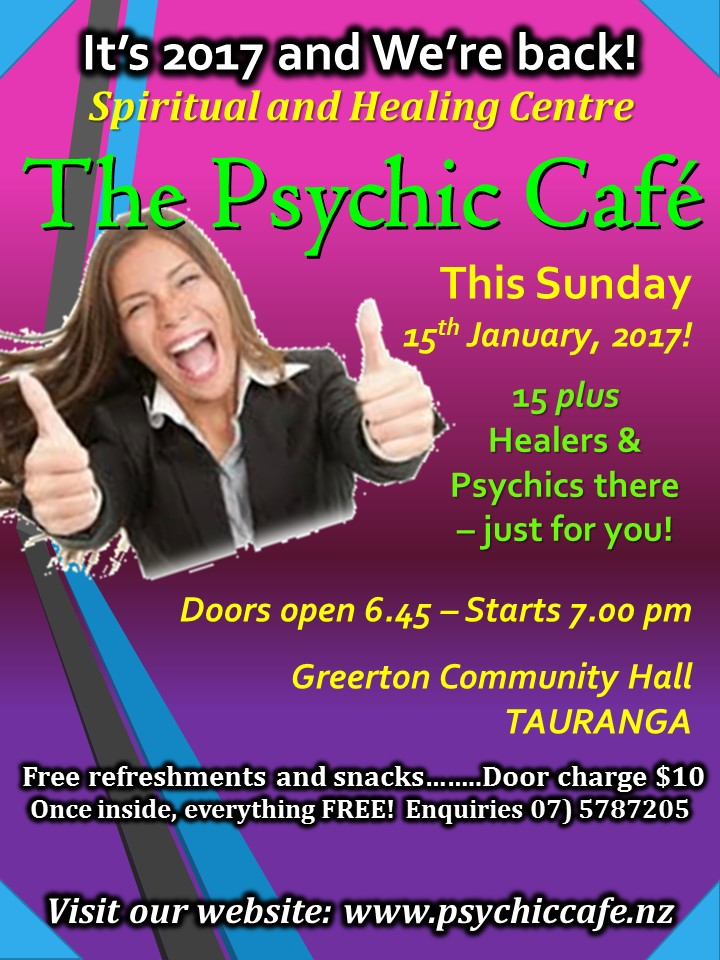 Psychic Cafe first meeting 2017!