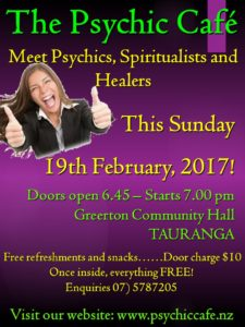 Psychic Cafe Meets this Sunday 19th February!