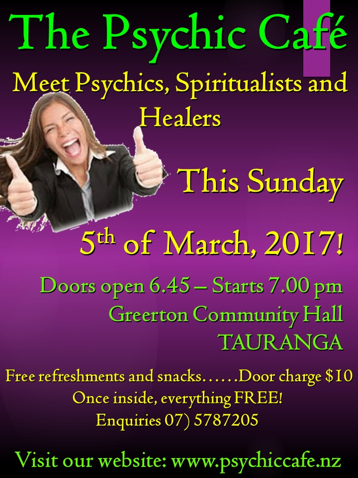 Psychic Cafe Meets this Sunday 5 March yayy!!!