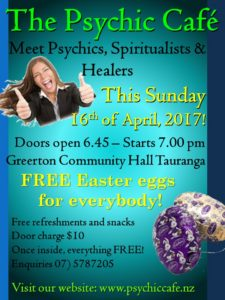 Easter Eggs for Everyone Psychic Cafe this Sunday