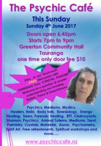 Psychic Cafe this Sunday – 4th June 2017 yay yyyayy!!!!