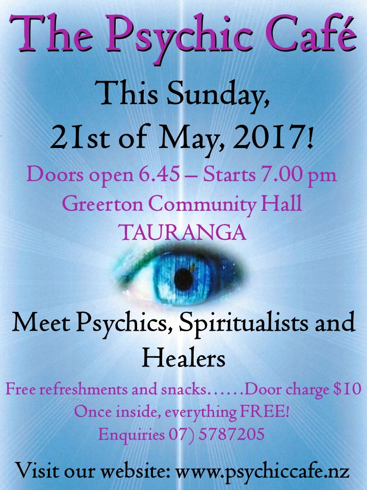 Read more about the article Psychic Cafe Sunday 21st May 2017