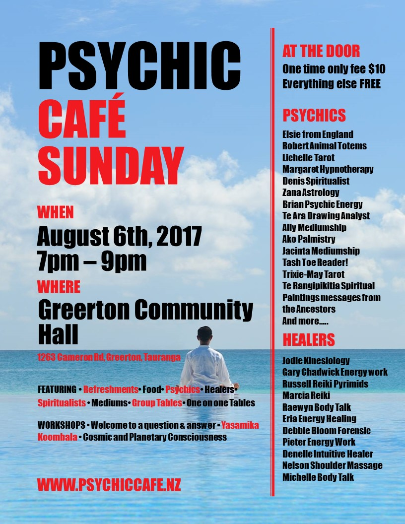 Tauranga Psychic Café Spectacular is on again