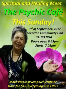 Psychic Cafe Meet this Sunday 3rd Sept 2017