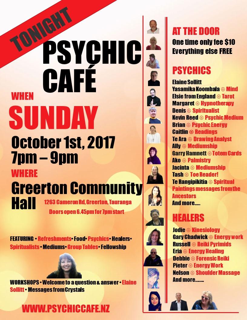 Psychic Cafe on TONIGHT!