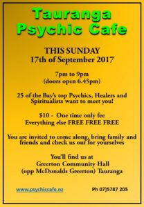 Psychic Cafe Spectacular this Sunday, 17th September!!!