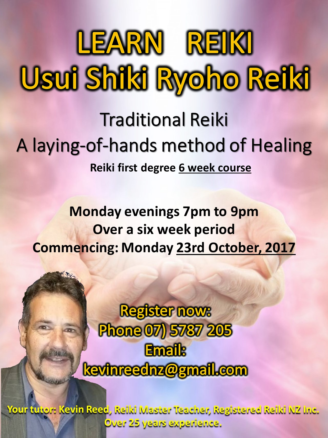 Learn Traditional Reiki (Laying of Hands Healing)