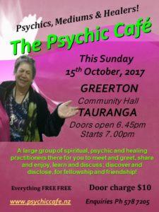 Tauranga Psychic Cafe Spectacular – Sunday 15th October 2017