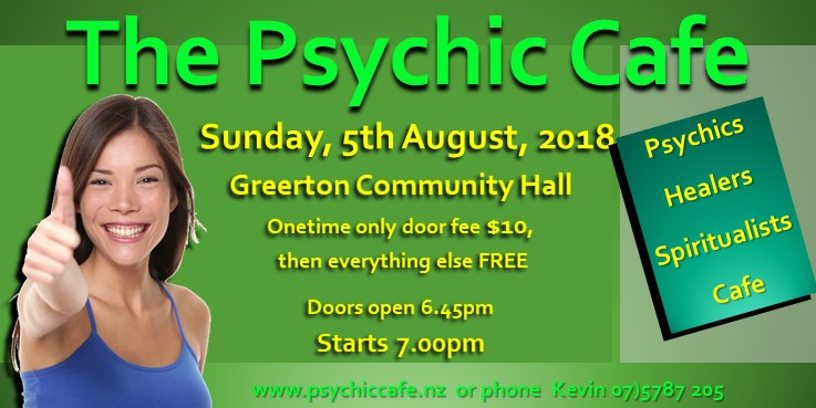Psychic cafe next event Sunday, 5th August!