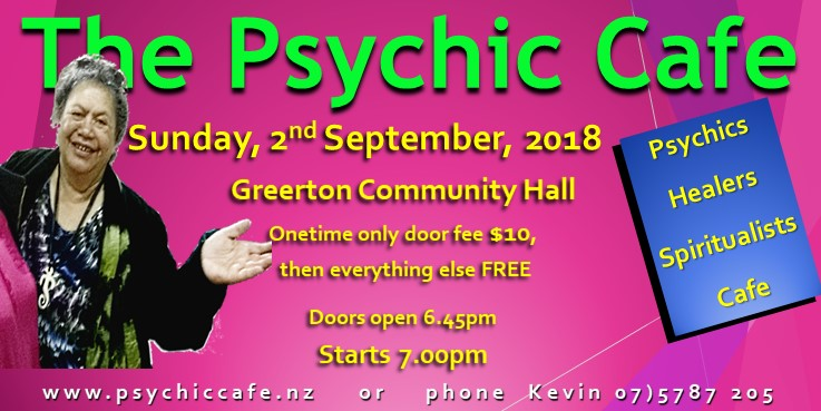The Psychic Cafe 'Meet'! 2nd September, 2018