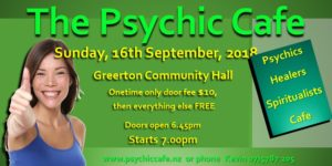 The Psychic Cafe 'Meet'! 16th September, 2018