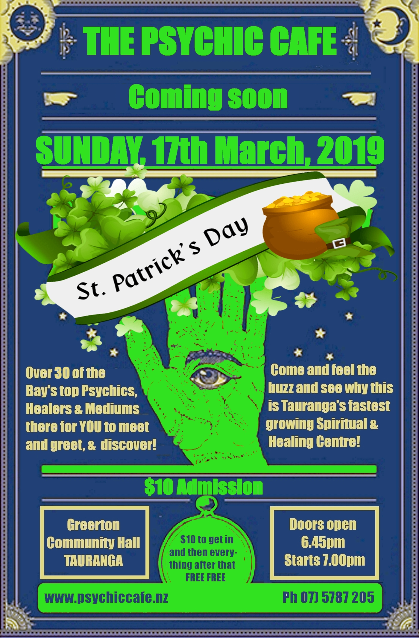 Next Psychic Cafe meets St Paddy's Day – 17th March, 2019!