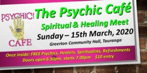 Psychic Cafe Meets again: March 15th, 2020!!!