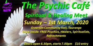 Psychic Cafe Meets again: March 1st, 2020!!!