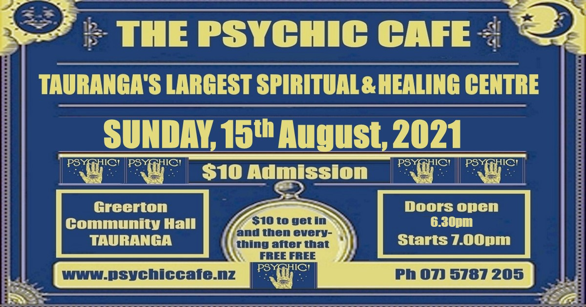 Read more about the article Psychic Cafe this Sunday, today!
