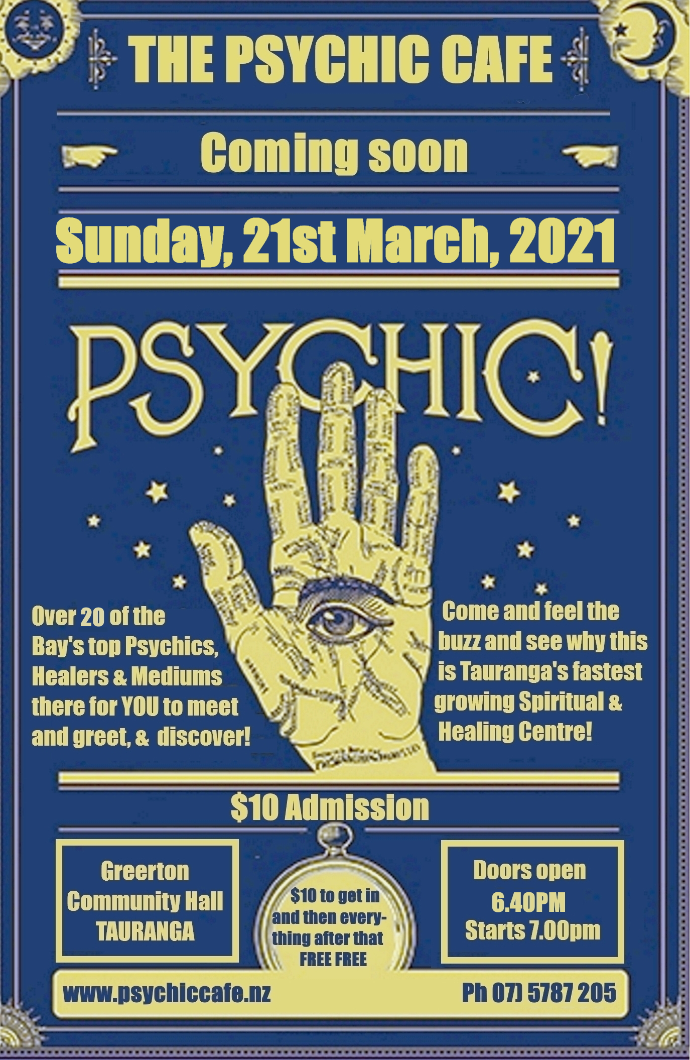 Read more about the article Psychic Cafe Meets 21st March, 2021