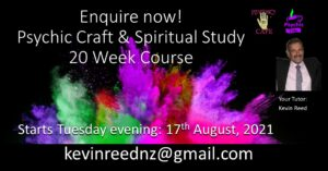 Read more about the article Spiritual Study and Psychic Craft – 20 week course with Psychic Medium Kevin Reed – 40 years experience!