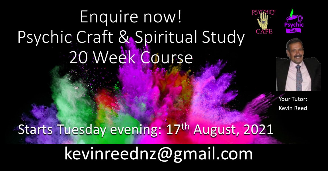 You are currently viewing Spiritual Study and Psychic Craft – 20 week course with Psychic Medium Kevin Reed – 40 years experience!