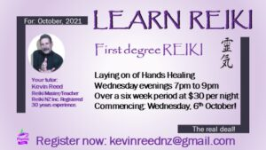 Read more about the article Learn Reiki 6 week course starting October 2021