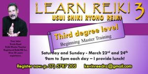 Reiki Three – Beginning Master Training