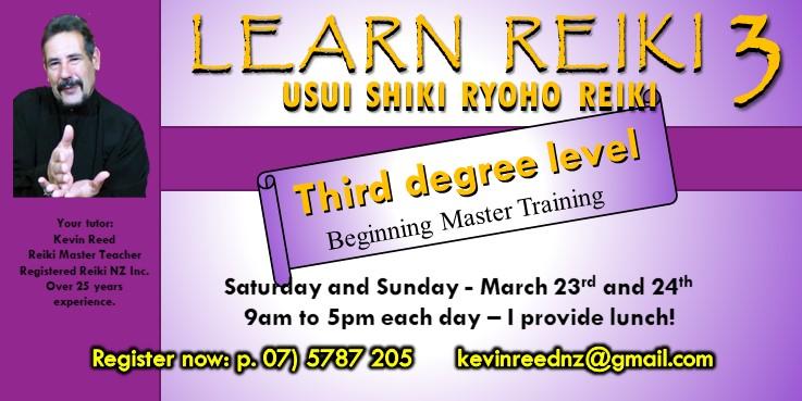 Reiki Three – Beginning Master Training