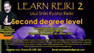 Just so you can PREPARE – Second Degree Reiki class will begin 30th of April, 2018.