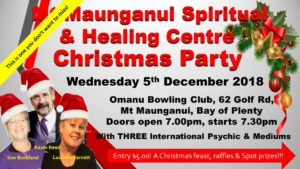 Read more about the article Mt Maunganui Spiritual & Healing Centre Xmas Meet the Mediums