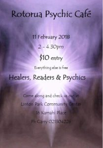 Read more about the article Rotorua Psychic Cafe this Sunday!!!