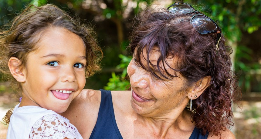 Evolutionarily, grandmas are good for grandkids — up to a point